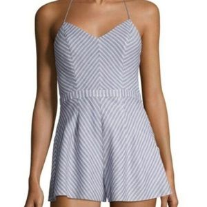 The Jetset Diaries Haven Chambray Striped Romper